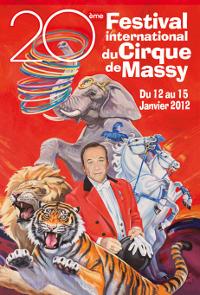 Affiche du 20ème festival international du cirque de Massy