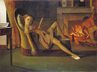 Balthus, Les Beaux jours (1944-1946). Hirshhorn Museum and Sculpture Garden, Smithsonian Institution, Washington, DC, Gift of the Joseph H. Hirshhorn Foundation, 1966 Photography by Lee Stalsworth