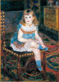 Pierre-Auguste Renoir, Mademoiselle Georgette Carpentier assise, 1876, huile sur toile, 97,8 x 70,8cm, Tokyo, Bridgestone Museum of Art © Bridgestone Museum of Art, Ishibashi Foundation