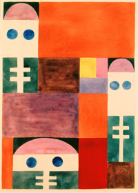 Sophie Taeuber-Arp (1889-1943), Motifs abstraits (masques), 1917 Stiftung Arp e.V., Rolandswerth/Berlin © Stiftung Arp e.V., Berlin / Rolandswerth. Wolfgang Morell