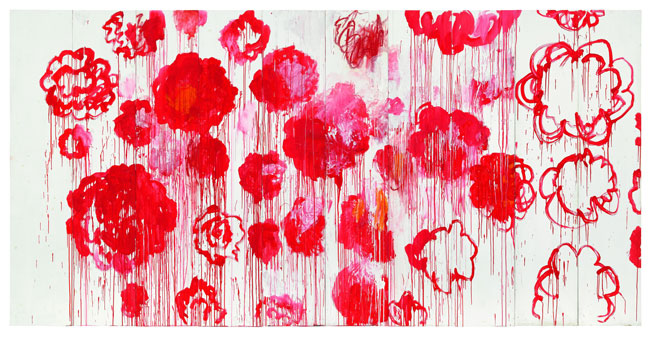 <small><small>Cy Twombly : Blooming, 2001 - 2008 Courtesy Archives Fondazione Nicola Del Roscio Photo : Studio Silvano, Gaeta © Cy Twombly Foundation</small></small>